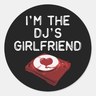 Mig förmiddag DJ'SENS flickvän Runt Klistermärke