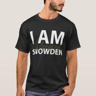 Mig förmiddag Edward Snowden (Cursivesvarten) Tee Shirt