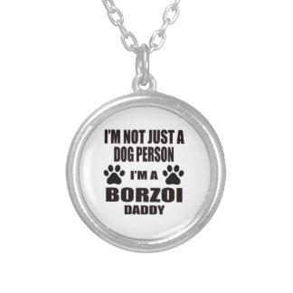 Mig förmiddag en Borzoipappa Halsband Med Rund Hängsmycke