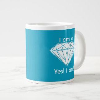Mig förmiddag en diamant ja mig Uplifting för Jumbo Mugg