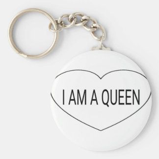 Mig förmiddag en drottning rund nyckelring