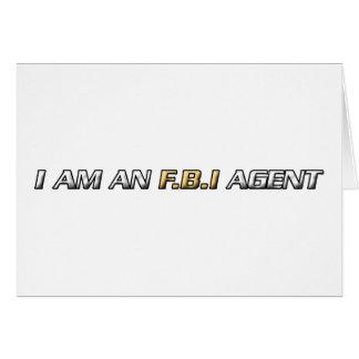 Mig förmiddag en FBI-agent Hälsningskort