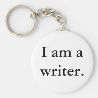 Mig förmiddag en författarekeychain rund nyckelring