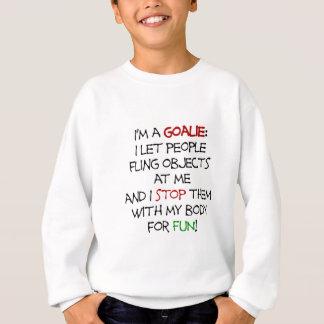 Mig förmiddag en goalie - häftig rörelsesaker! t-shirt