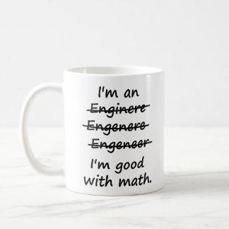 Mig förmiddag en ingenjör mig förmiddagbra på Math Kaffe Muggar