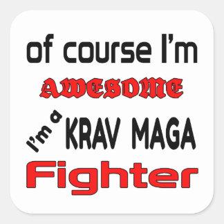Mig förmiddag en Krav Maga kämpe Fyrkantigt Klistermärke