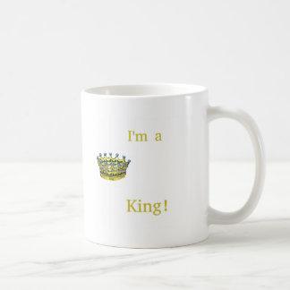 Mig förmiddag en kung kaffemugg