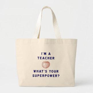 Mig förmiddag en lärare [äpple] vad är din jumbo tygkasse