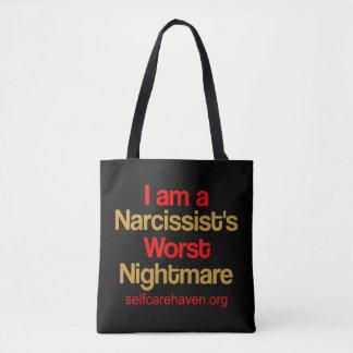 Mig förmiddag en narcissists dubbeltoto för värst tygkasse