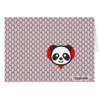 Mig förmiddag en Panda!  Rosor Hälsningskort
