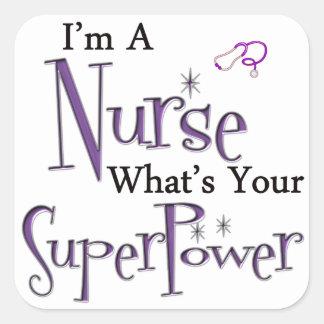 Mig förmiddag en sjuksköterska fyrkantigt klistermärke