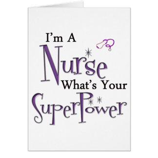 Mig förmiddag en sjuksköterska hälsningskort