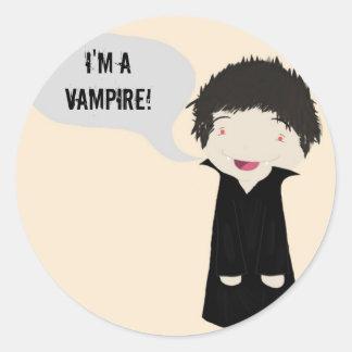 Mig förmiddag en vampyr! - klistermärke