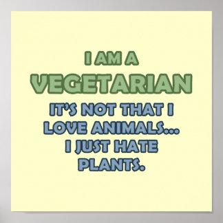 Mig förmiddag en vegetarian poster