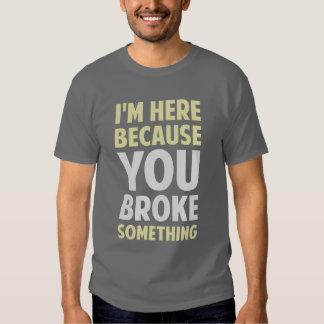 Mig förmiddag här därför att dig som är fattig t-shirt