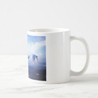 Mig förmiddag himmlen kaffemugg