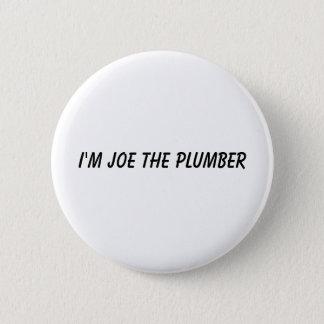 Mig förmiddag Joe rörmokaren Standard Knapp Rund 5.7 Cm