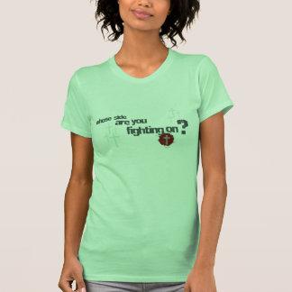 Mig förmiddag kristna kvinna för soldat t-skjorta tee shirts