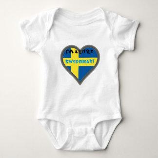 Mig förmiddag Lttle en Swedeheart barnkläder Tee Shirts