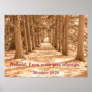 Mig förmiddag med dig alltid - Scriptureaffisch Poster