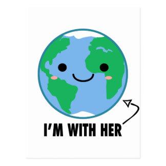 Mig förmiddag med henne - planetjorddag vykort