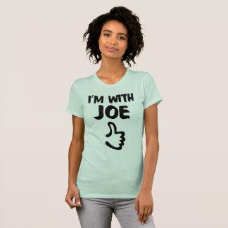 Mig förmiddag med Joe kvinna den fina Jersey T-shirt