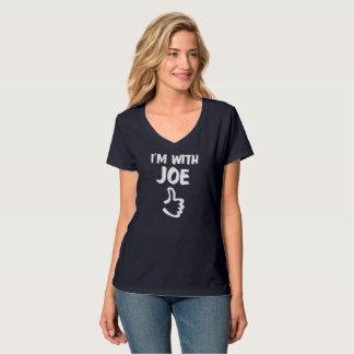 Mig förmiddag med Joe kvinna den Nano V-Nacke T-shirt