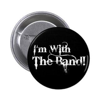 Mig förmiddag med musikbandet! standard knapp rund 5.7 cm