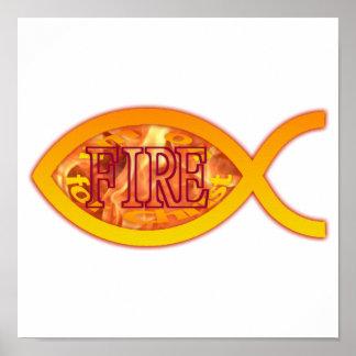 Mig förmiddag på FIRE för Kristus - kristet Poster