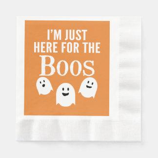 Mig förmiddag precis här för bu - rolig halloween pappersservett