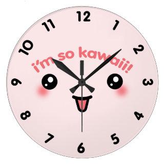 Mig förmiddag så Kawaii Stor Klocka