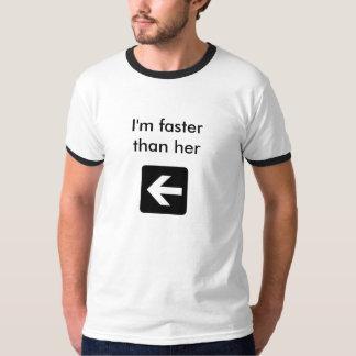 Mig förmiddag snabbare än henne (skida), t-shirts