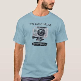 Mig förmiddag som antecknar allt/dig inspelning? tee shirts