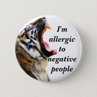 Mig förmiddag som är allergisk till negativa standard knapp rund 5.7 cm