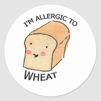 Mig förmiddag som är allergisk till runt klistermärke