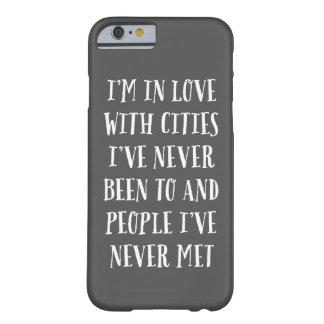 Mig förmiddag som är förälskad med städer barely there iPhone 6 fodral