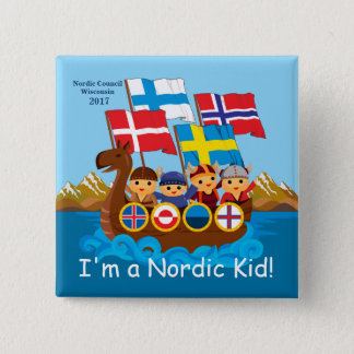 Mig förmiddag som en nordisk unge knäppas standard kanpp fyrkantig 5.1 cm