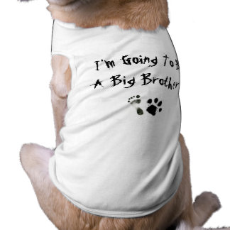 Mig förmiddag som går att vara en storebror! djur tee shirt