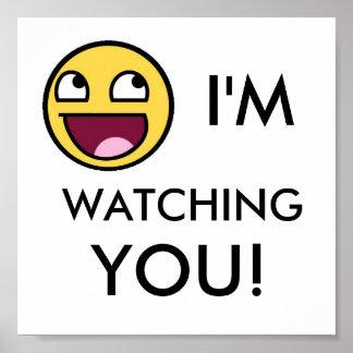 Mig förmiddag som håller ögonen på dig! poster