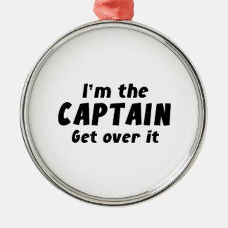 Mig förmiddag som kaptenen får över det julgransprydnad metall