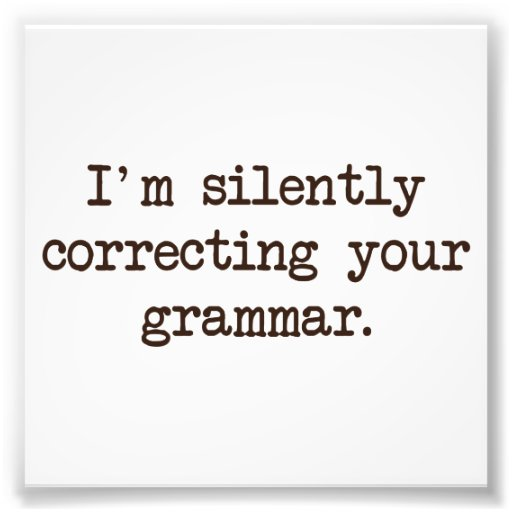 Mig förmiddag som korrigerar tyst din grammatik foton