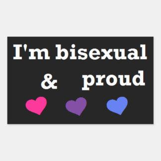 Mig förmiddagbisexuell person & stolt klistermärke