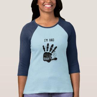 Mig förmiddagdåligakvinna 3/4 skjorta för sleeve tee