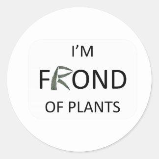 Mig förmiddagormbunksblad av växter runt klistermärke