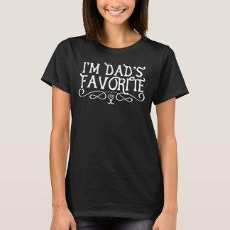 Mig förmiddagpappa favorit- mörk för dotter t-shirt