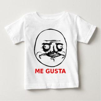 Mig Gusta ansikte med text Tee Shirt