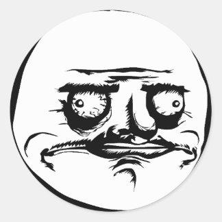 Mig Gusta ansikte Meme Runda Klistermärken