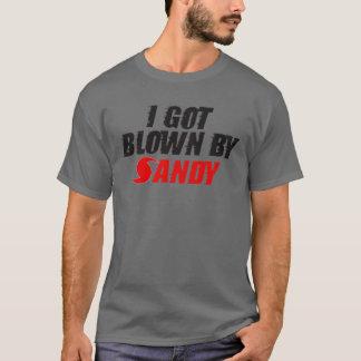 Mig har som blåsas av sandigt - sandig T-tröja för T Shirt