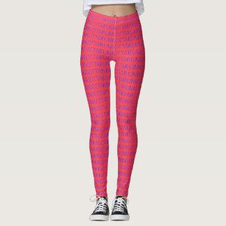 Mig har som kör blått på rosa spring leggings