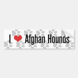 Mig (hjärta) afghanska hundar bildekal